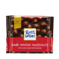 Ritter Sport Dark Whole Hazelnut Chocolate 100G