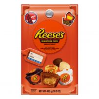 REESE'S Milk Chocolate Peanut Butter Cups Miniatures Candy Assortment Box 460g