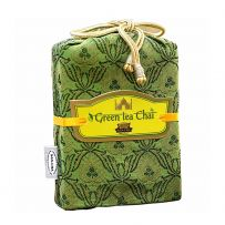 Sancha Green Tea Masala Chai in a tanchoi fabric bag 100gms
