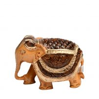 Hand Crafted Elephant with Gold Border 2.5 inch