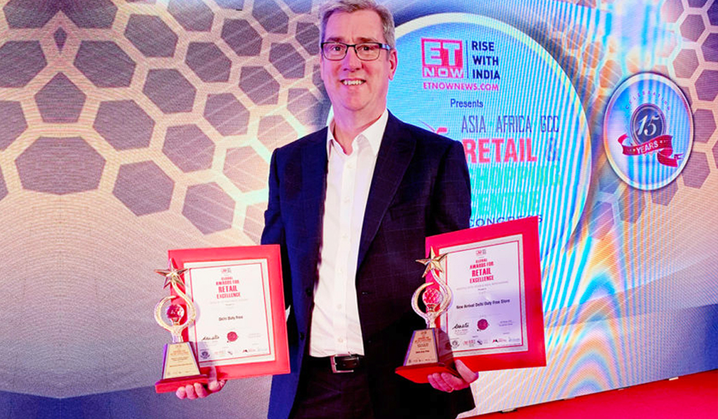 Delhi Duty Free and CEO Philip Eckles win prestigious regional retail awards